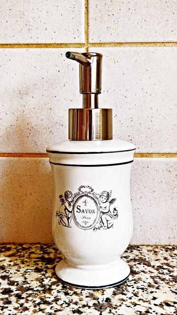 dispensador de jabón decorativo