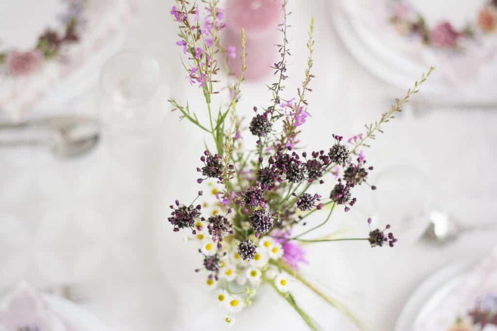 Centro de Mesa con Flores Secas